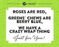 I love my It Works Products.  message me or check out my website www.slimthang.com