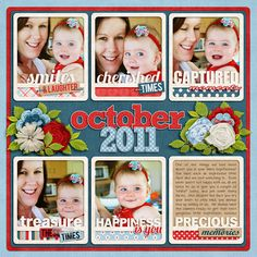 Love this layout by Jacinda - Love all the frames and how she did little titles with each of them :)