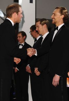 Tom got a warm greeting from Prince William.