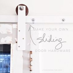 #DIY: Make your own sliding door hardware. Because you can. You've got this. Double dawg dare you. Free tutorial on ze blawg www.lynneknowlton.com