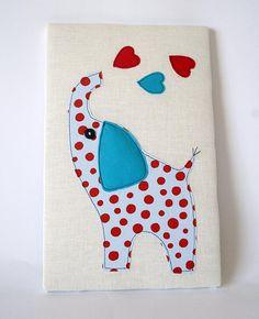 Cuadro de tela elefante azul ideal para habitaciones infantiles. en Etsy, €12.00