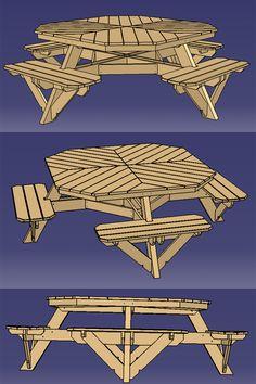 Table terrasse - pique nique.- Garden Picknick table