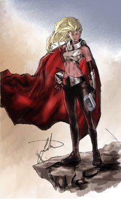 Thor Girl, Lady Thor, Lady Sif, Marvel Comic Universe, Marvel Vs, Marvel Heroes, Marvel Comics, Comic Movies, Comic Books Art