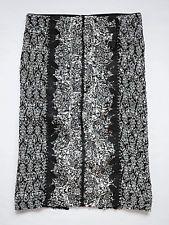 Anthropologie Sombra Laser-cut Pencil Skirt by Byron Lars Sz 4 - Black & White