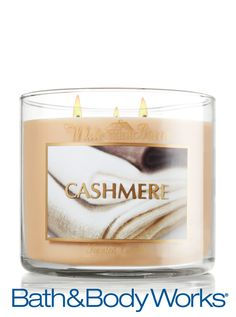 Cashmere 3-Wick Candle — Wrap up in the soft and comforting fragrance of warm ginger, sweet amber and creamy vanilla ♥ #LUVBBW