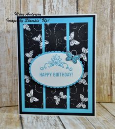Amazing Life and Botanical Butterfly Designer Paper Birthday Cards, Happy Birthday, Butterfly Cards, Making Cards, Big Shot, Xmas Cards, Paper Design, Homemade Cards, Stampin Up Cards
