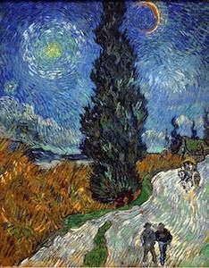 Vincent van Gogh - Road with Cypress and Star, 1890