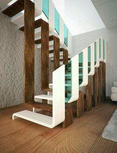 New interior stairs architecture heavens Ideas Home Stairs Design, Railing Design, Interior Stairs, Modern House Design, Home Interior Design, Stair Design, Staircase Design Modern, Contemporary Stairs, Stairs Architecture