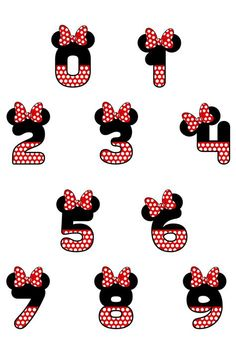 Minnie Mouse Stickers, Mickey Mouse Crafts, Minnie Mouse Birthday Decorations, Minnie Mouse Template, Cursive Alphabet, Hand Lettering Alphabet, Baby Mickey, Mickey Minnie Mouse, Minnie Mouse Drawing