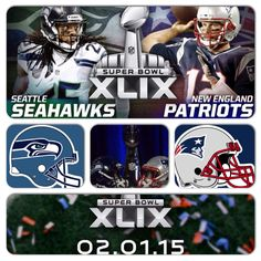 SUPER BOWL XLIX (49) SUNDAY FEBRUARY 1 2015!!!!!   Super Bowl XLIX New England Patriots vs. Seattle Seahawks: Game Time, Live Stream, TV Schedule, Stats and More By Offensive Jazz Interference on Feb 1 2015, 8:00a 98    Two teams, one trophy. - Kirby Lee-USA TODAY Sports Today is the day!   TWEET (5)  SHARE (2) At the beginning of the season, 32 teams were looking for one goal – Super Bowl XLIX. Out of those teams, only two are left: the AFC Champion New England Patriots and the NFC…