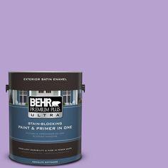 BEHR Premium Plus Ultra 1-gal. #P570-3 Flower Girl Satin Enamel Exterior Paint