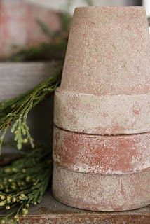 Age your own terracotta pots