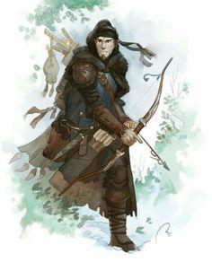 Half-Elf Ranger - Pathfinder PFRPG DND D&D d20 fantasy