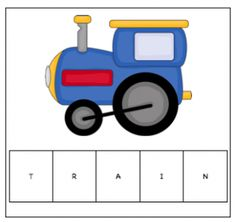 Train Letter Tiles