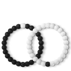 Lokai Black and White Lokai Bracelet Pair at The Paper Store