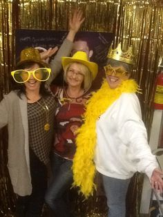 Photo Booth. Props all gold.