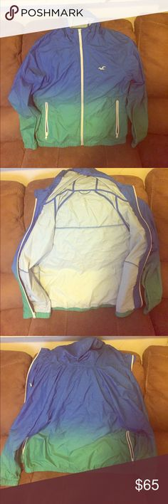 Men's Hollister windbreaker Previously worn, great condition, Size medium Hollister Jackets & Coats Windbreakers