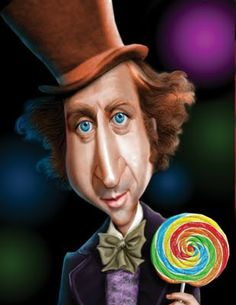 Gene Wilder (Willie Wonka) Caricature by Douce