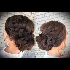 Bridal Brunette Hair with braid