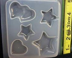 Stars and hearts resin jewelry mold 392 by ResinObsession on Etsy, $7.99
