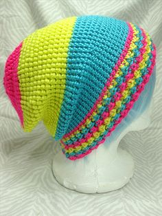 Pansexual Pride Slouchy Hat by greywombat on Etsy, $25.00