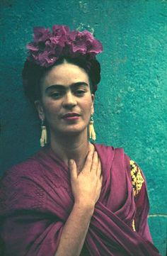 Frida Kahol - Mexican artist - one of my favourite people with such an interesting life story shared through her art.  Muray, Nickolas   (b. Hungary, 1892-1965)   Frida Kahlo   ca 1940