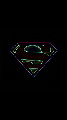 Neon Superman Background Wallpaper