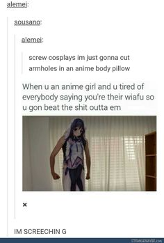 ... This is actually genius compared to what I usually spend on cosplay. #dakimakura #anime #cosplay