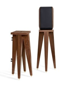 Our Speaker Stand Set Shown With A Bookshelf Stands Wooden