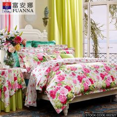 FUANNA  4Pcs,Home textile, bedding sets luxury include Quilt Cover Bed sheet Pillowcase,King Queen Full size youyuanjiameng