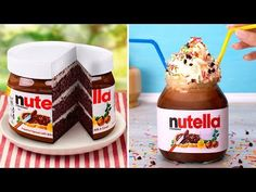 4 Nutella Desserts To Treat Yourself Biscuit Nutella, Nutella Milkshake, Nutella Cookies, Desserts Nutella, Nutella Popsicles, Homemade Nutella Recipes, Oreo Cake, Mets, Nutella Recipes