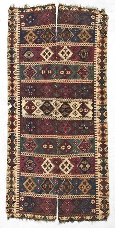 Reyhanli Kilim - Turkey, late c, two panels. x on May 2012 Kilims, Tribal Rug, Handicraft, Carpets, Bohemian Rug, Felt, Culture, Embroidery, Traditional