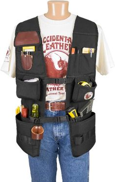 Occidental Leather 2575 Oxy(TM) Pro Work Vest Since 1980 Occidental Leather has been known for manufacturing the highest quality tool bags and accessories in Tool Pouch, Belt Pouch, Tool Belt, Occidental Leather, Tool Apron, Woodshop Tools, Carpenter Tools, Jewelry Tools, Tools And Equipment