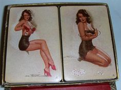 1944 pin up girl playing cards art by earl macpherson $9.99