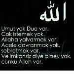 Allah var! ☝