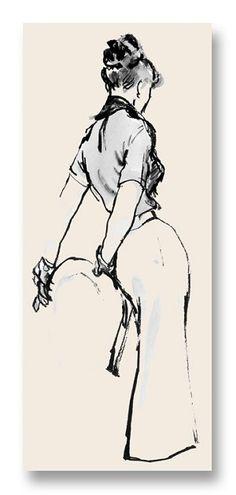 Sophie Notecard vintage fashion illustration by my late mom, Hilda Glasgow Fashion Designer Quotes, Fashion Art, Vintage Fashion, Trendy Fashion, Megan Hess, Fashion Illustration Vintage, Illustration Art, Fashion Illustrations, Pin Up