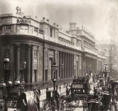 The Bank of England in Threadneedle Street, City of London England in 1890