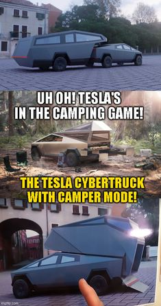 Tesla's new Cybertruck is apparently making Elon Musk a legit competitor in the camper/rv industry. As the title says, this could be interesting! Get information about the outdoors, hiking, camping preparation, fun activities, my personal outdoor experiences, do's and dont's, and much more. Click here and check it out. #camping #tent #hiking #tactical #outdoors #campingfood #campinghacks #hikinghacks #sleepingbag #campingsurvival #bigtents #tactical #offthegrid #campfire #fun #adventure