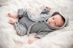 Серый жакет для новорожденных - схема вязания спицами. Вяжем Жакеты на Verena.ru