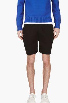 NEIL BARRETT Black Neoprene Shorts