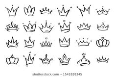 Line art king or queen crown sketch, fellow crowned heads tiara, beautiful diadem and luxurious decals vector illustration set. Royal head accessories linear collection - Buy this stock vector and explore similar vectors at Adobe Stock Easy Doodles Drawings, Cute Drawings, Tiny Tattoos For Girls, Small Tattoos, Mini Tattoos, Cute Tattoos, Diadem Tattoo, Line Art, Queen Tattoo
