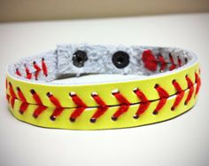 Softball Seam Bracelet w/ Snap