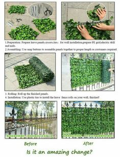 3 Confident Tips AND Tricks: Balcony Fence Cinder Blocks iron fence panels.Wooden Fence Walks corner fence landscaping.Dog Fence Spring.. Backyard Fences, Garden Fencing, Backyard Privacy, Privacy Fences, Balcony Privacy, Backyard Landscaping, Muro Com Grade, Jardin Vertical Artificial, Artificial Green Wall