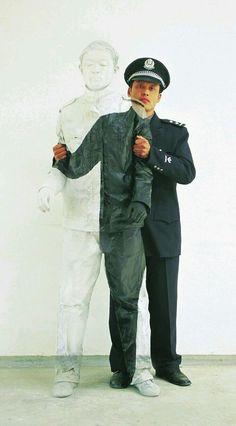 Liu Bolin, Body Painting, Pantone, Illusions, Bomber Jacket, Hipster, Baseball Cards, Random Pictures, Jackets