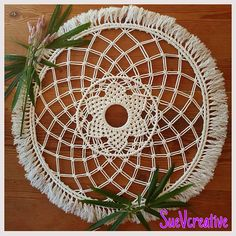 Handmade by SueVcreative - Macrame Mandala Wall Hangings - more on my Etsy Shop Hanging Wall Art, Wall Art Decor, Wall Hangings, Hamptons Style Decor, Bedroom Crafts, String Crafts, Wall Banner, Flower Center, Boho Decor