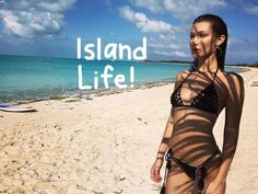 Bella Hadid vacations and works with her supermodel friends.