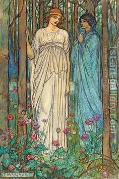 Emma Florence Harrison:Illustration for Tennyson's Guinevere