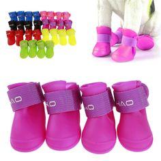 4 Pcs/Set 7 colours Foot protective Puppy Shoe Cat Dog Shoes Waterproof Non-slip Rain Boots Pet Supplies Cat Dog, Dog Paws, Puppy Shoes, Dogs Online, Rain Shoes, Dog Boots, Cute Boots, Cat Supplies, Pet Clothes