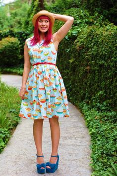 Another feature on the Modcloth Pinterest forum :) Sweet as a cheery pie. #stylegallery