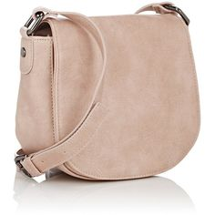 Deux Lux Women's Patina Mini Saddle Bag ($39) ❤ liked on Polyvore featuring bags, handbags, shoulder bags, deux lux, deux lux handbags, flat purse, pink purse and mini handbags